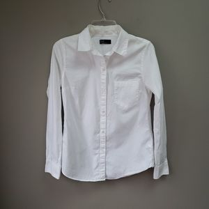 Gap White Long Sleeve Blouse Top Medium